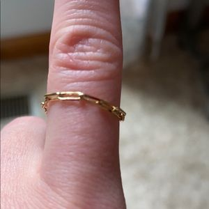Anna luisa gold chain ring size 5